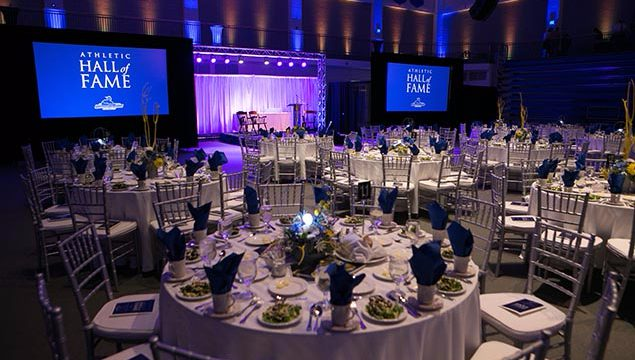 CHAUVET Helps Turn Worcester State Gym Into Banquet Hall For Ceremony